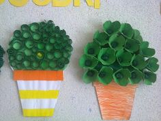 manjericos Summer Crafts, Diy And Crafts, Arts And Crafts, Paper Crafts, Diy For Kids, Crafts For Kids, Class Decoration, Craft Day, Recycled Bottles