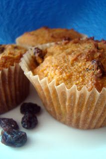 As we head into summer, sometimes it is hard to find fresh fruit in season.  Why not try some raisin muffins?  My daughter especially loves these muffins since she loves raisins.  They are cinnamon-y and delicious!