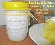 8 ounce jar - No.1 The Cottage -  Italian #Lemon #IceBox #Cake #soycandle infused with pure essentials and fine beeswax, a very organic candle with a delicious scent  by House33CandleCo, $13.95