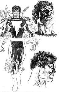 Captain Marvel / Shazam by Alex Ross Comic Book Artists, Comic Book Characters, Comic Artist, Comic Character, Comic Books Art, Original Captain Marvel, Captain Marvel Shazam, Marvel Dc, Alex Ross