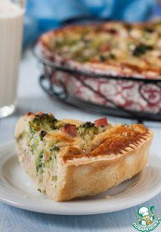 Киш с ветчиной и брокколи - кулинарный рецепт
