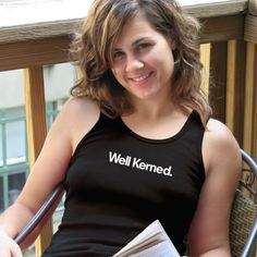Well Kerned Tank Top for graphic designers and typophiles from TypographyShop on Progresswear.com