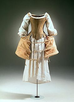 Undergarments consisting of chemise, bodice and panniers. NATMUS DK [note: repinned with working link]