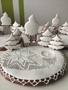 Sweet Cookies, Iced Cookies, Christmas Treats, Christmas Cookies, Iced Biscuits, Cookie Bars, Winter Holidays, Cookie Decorating, Gingerbread Cookies