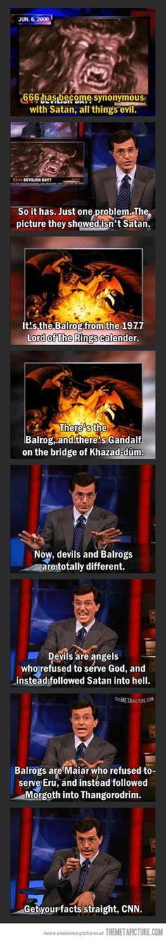 Haha! #Colbert #LOTR