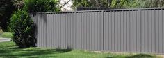 Steel Fence Panels Residential - Have you got a back yard which you really appreciate? Do you have a backyard you can enjo Landscape Design, Garden Design, House Design, Fence Paint Colours, Wood Design, Modern Design, Corrugated Metal Fence, Steel Fence Panels, Privacy Fence Designs