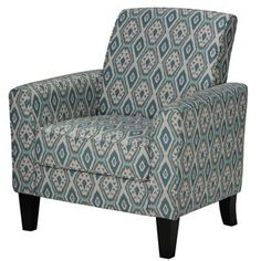 Shop for Cortesi Home Tali Blue Diamond Arm Accent Chair. Get free shipping at…