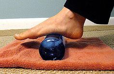 Wear high heels?  Run?  Chances are you'll experience Plantar Fasciitis which is so painful!  Freeze a water bottle and roll it under your feet.  Helps....trust me.
