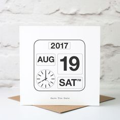 Special Date Calendar Card to Save The Date