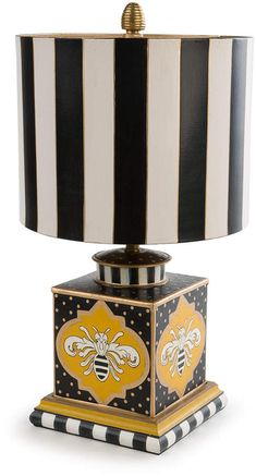 Shop Queen Bee Lamp from MacKenzie-Childs at Horchow, where you'll find new lower shipping on hundreds of home furnishings and gifts. Bee Hive Plans, Mackenzie Childs Inspired, Mckenzie And Childs, Painting Lamps, Bright Homes, Bee Design, Bee Theme, Save The Bees, Bees Knees