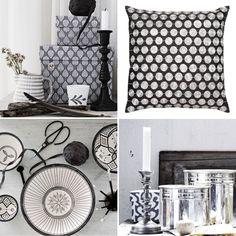 black, white & silver accessories...