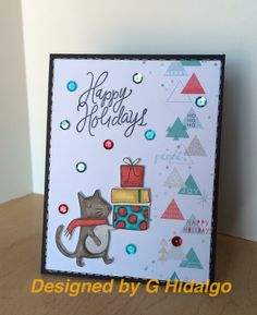 Simon says stamp Dec 2015 kit. You gotta love it when the patterned paper almost makes the card for you!