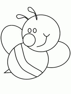 Bumble Bee Coloring Pages Bee Template, Applique Templates, Applique Patterns, Applique Designs, Bee Coloring Pages, Animal Coloring Pages, Coloring Books, Kids Wallpaper, Felt Patterns
