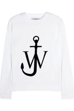 JW Anderson | Flocked cotton-jersey sweatshirt
