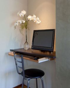 Fabulous Computer Desk Ideas For Small Spaces Catchy Home Design Trend 2017 with Small Computer Desk For Kitchen Homezanin Home Office Small is one of the Furniture, Hideaway Computer Desk, Desks For Small Spaces, Home Office Furniture, Small Space Diy, Desk In Living Room, Desk Design, Home Decor, Desk Nook