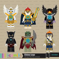 Chima Lego Digital Clipart by IcemiloClipart on Etsy, $5.00