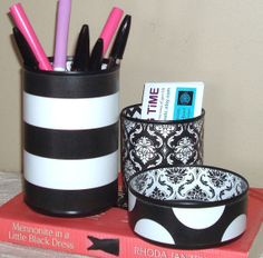 The Best Tin Can Desk Accessory Set Ever  Pencil by makingtimetc, $32.00
