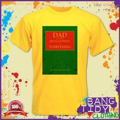Dad The Complete Encyclopedia or Everything Men's Tshirt