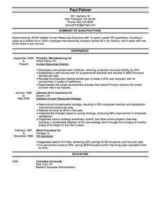 professional job resume template
