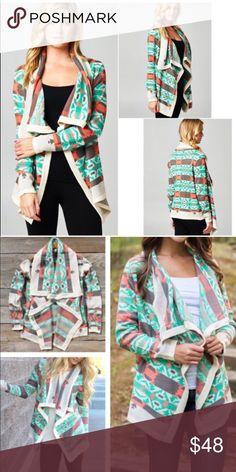 🚨LAST🚨CARMEN print cardigan - MINT Super stylish & comfy. 🚨NO TRADE, PRICE FIRM🚨 Bellanblue Sweaters Cardigans