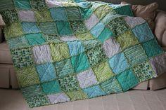 Blue & Green Rag Quilt | Punkie Pies | Flickr