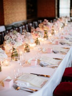 Candle lit wedding reception | Image by Ian Holmes Photography