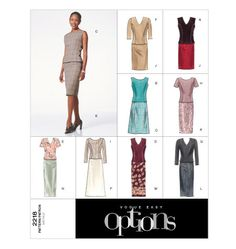 Pattern Review: Vogue Basic Design 2218 Skirt (OOP) | Gorgeous Things' Blog  love the black on black (v-neck)