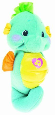 Amazon.com: Fisher-Price Soothe and Glow Seahorse Baby Soother - Blue.: Baby
