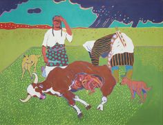 The Indigenous-Modernist Intersection: Contemporary Native American Paintings and Prints - Peyton Wright Gallery