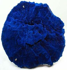 Bright blue azurite 'disc'