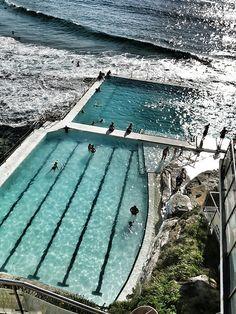 The pool at Bondi Beach ,Sydney