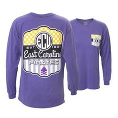 Purple Lollipop Design ECU Long Sleeve image