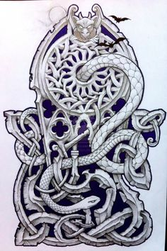 Rob's Gothic inspired 3/4 sleeve by Tattoo-Design.deviantart.com on @deviantART