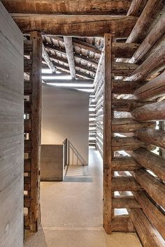 Arch Interior, Interior Architecture, Interior And Exterior, Interior Design, Log Wall, Farmhouse Renovation, Wooden Buildings, House In The Woods, Bali