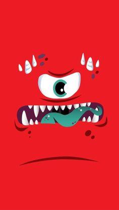 Rrrrrrrr!!!! Wallpaper Iphone Disney, Cellphone Wallpaper, Mobile Wallpaper, Wallpaper Backgrounds, Emoji Wallpaper, Eyes Closed, Cool Wallpapers For Phones, Monsters Inc, Funny Faces