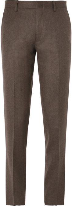 $250, Brown Ludlow Slim Fit Wool Suit Trousers by J.Crew. Sold by MR PORTER. Click for more info: http://lookastic.com/men/shop_items/121816/redirect