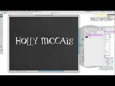 Creating a Chalkboard Effect on Text in Photoshop! Via Two Pear Designs