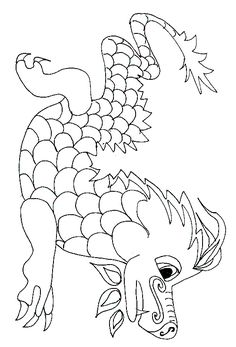 Coloriages dragon chinois Plus