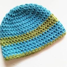 gorro basico a crochet - ahuyama crochet