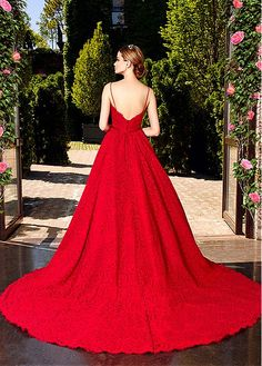 moonlight couture spring 2017 bridal spagetti strap sweetheart neckline full embellishment romantic princess red color a line wedding dress v back chapel train bv -- Moonlight Couture Spring 2017 Wedding Dresses Spring 2017 Wedding Dresses, Princess Wedding Dresses, Colored Wedding Dresses, Romantic Princess, Dress Wedding, Moonlight Couture, Elegant Ball Gowns, Lace Ball Gowns, Red Gowns