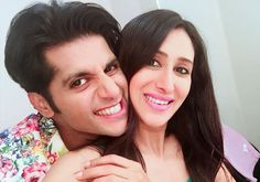 #KaranvirBohra and #TeejaySindhu have been married for over 10 years now and the couple are on cloud nine to welcome their little bundle of joy soon. Checkout the cute #photoshoot of mommy-to-be glowing like a princess.  #TVCelebs #ParentsToBe #HappyCouple #HappilyMarried