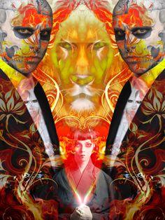 Like a lion - Digital artwork