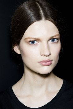 Dolce & Gabbana Fall 2012 - Backstage brunette Bette Franke