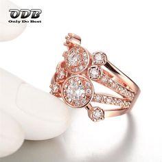 Купить Корейский Стиль Кольцо Женщины Кольцо 18 KRGP 18 К Роуз Позолоченные…