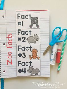 Using science interactive notebooks is a great way to work in some independent writing time for your students. This zoo facts flip book book does just that!