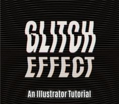 How to create a vector TV glitch effect in Adobe Illustrator - Tutorial