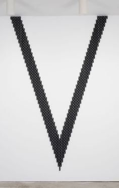 """Davina Semo [USA] (b 1981) ~ """"SHE LOOKED AT HIM FINALLY, A SADNESS IN HER EYES, AS IF SHE WAS ASKING HIM TO THINK OF A WAY TO HELP HER"""", 2013. Painted steel chain (297 x 193 cm). 