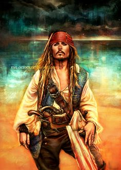 """Lost At Sea by Five-OClock.deviantart.com on @DeviantArt - Captain Jack Sparrow from """"Pirates of the Caribbean"""""""