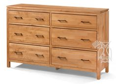 9 Drawer Unfinished Solid Pine Wood Dresser With Full