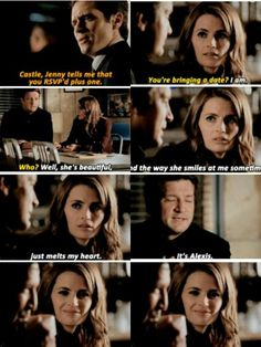 """""""You're bringing a date?"""" - Kate and Rick #Castle"""